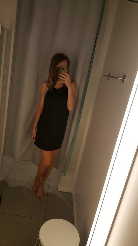 Nowa czarna sukienka zara s