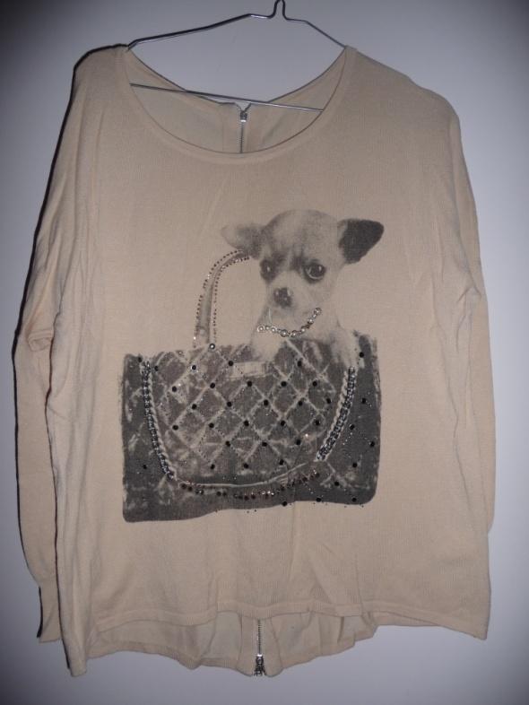 Sweter z suwakiem