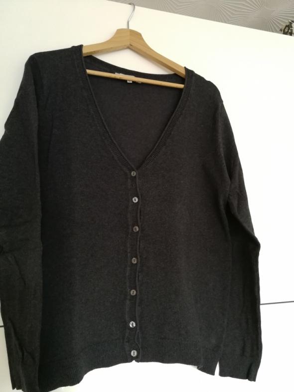 Sweter kardigan grafit szary rozm L 40 42