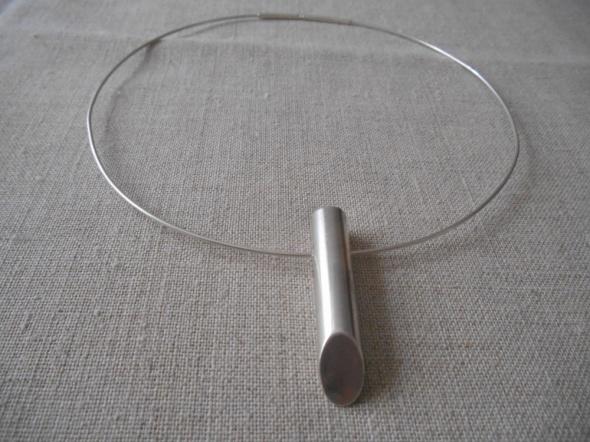 Srebrny naszyjnik obróżka z zawieszką srebro 925
