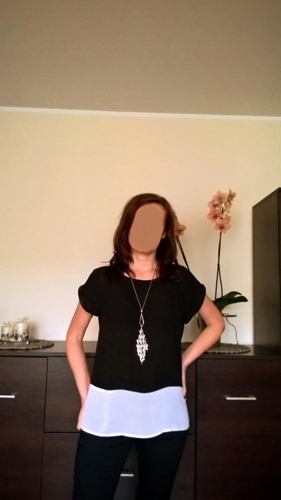 Czarno biała bluzka rozmiar L