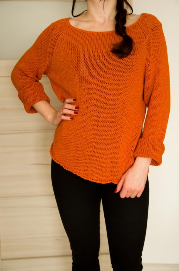 pomarańczowy sweter XL Solar...