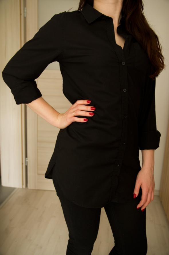 długa czarna koszula 34 H&M...