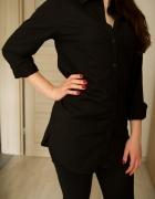 długa czarna koszula 34 H&M