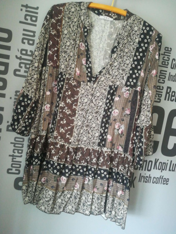 Sukienka patchworkowa XS