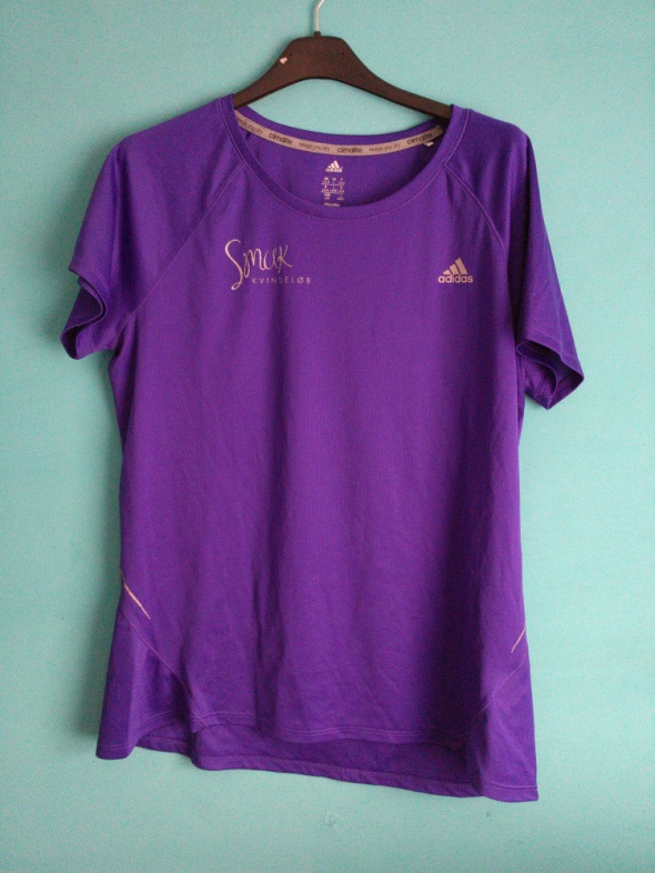 Koszulki Fioletowa koszulka sportowa Adidas 42 44