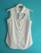 Biała koszula bez rękawów S...