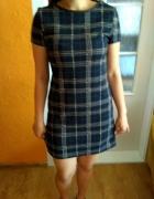 Granatowa sukienka w kratkę 38...