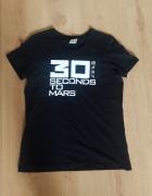 Czarna koszulka 30 seconds to mars tshirt bluzka z krótkim ręka...