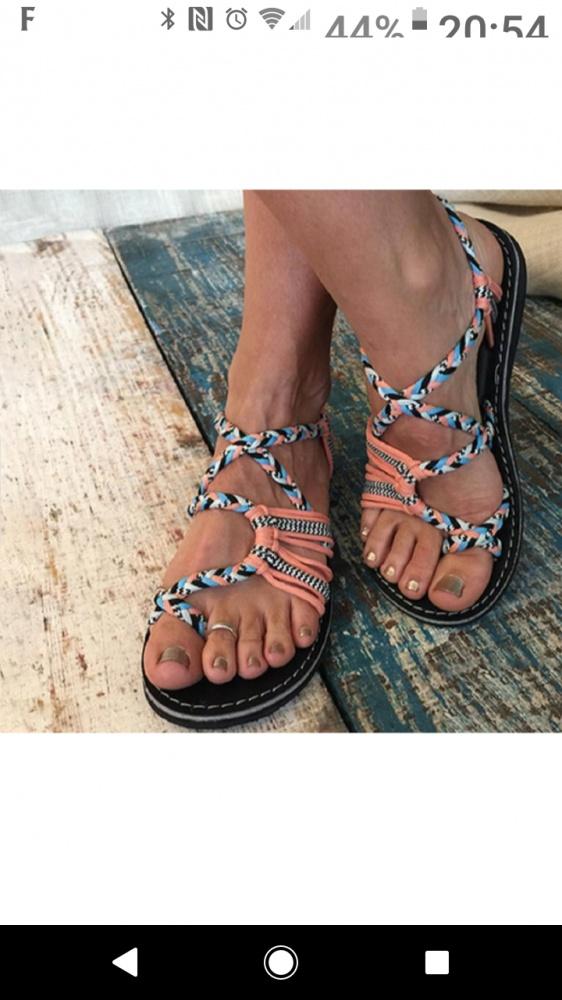 Sandały plecione 38 25 cm