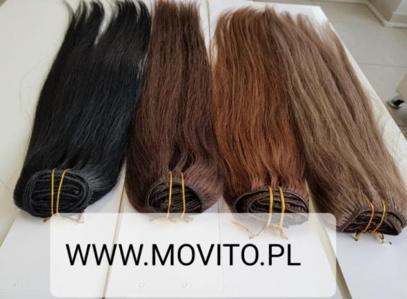 Włosy Naturalne Clip in 55cm