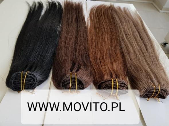 Włosy Naturalne Clip in 40cm