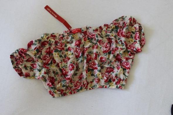 krótka bluzeczka bawełniana w kwiaty M L
