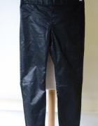 Spodnie Czarne Woskowane H&M M 38 Rurki Tregginsy...