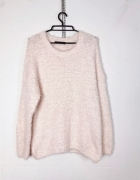 Atmosphere Plus Size Biały kremowy puchaty włochaty sweterek...