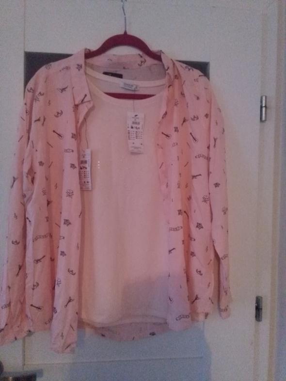 Nowa bluzka pudrowy róż cekiny