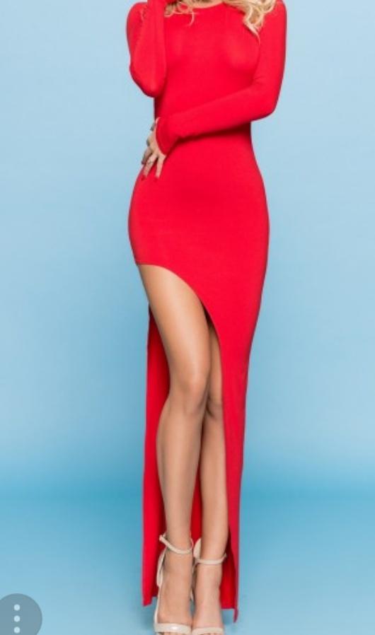 Długa czerwona sukienka Lovesaints 34 36