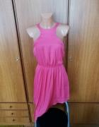 Piękna sukienka asymetryczna różowa Bershka S NOWA z metkami...