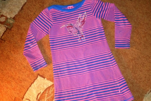 rozm 116 ME TOO sukienka z koliberkiem