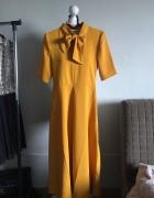 Musztardowa sukienka Reserved...