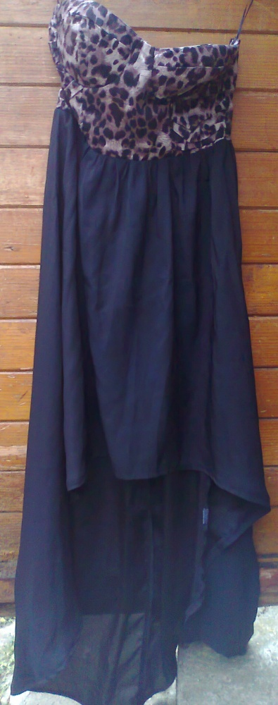sukienka gorsetowa panterka asymetryczna