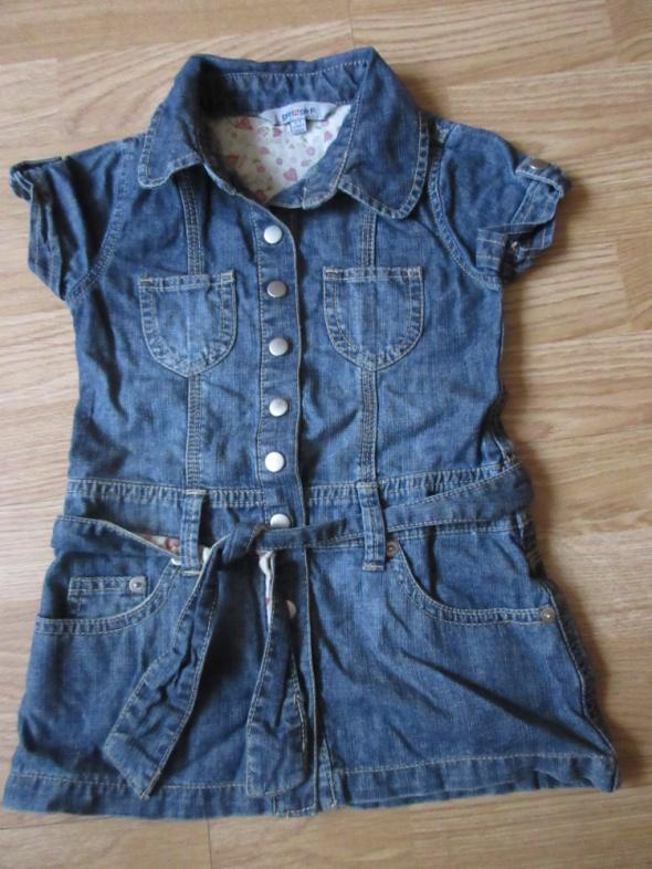Sukienka jeansowa szmajzerka roz 98