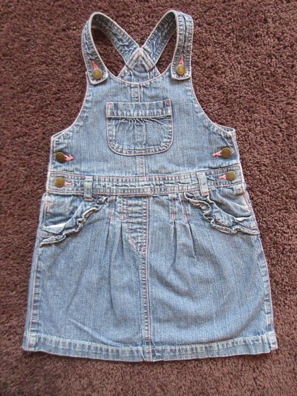 Jeansowa sukienka ogrodniczka George 4 do 5 lat