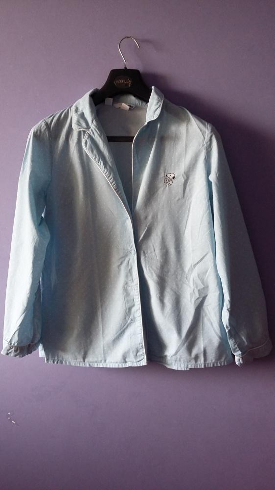 błękitna koszula pidźama Snoopy H&M rozmiar L