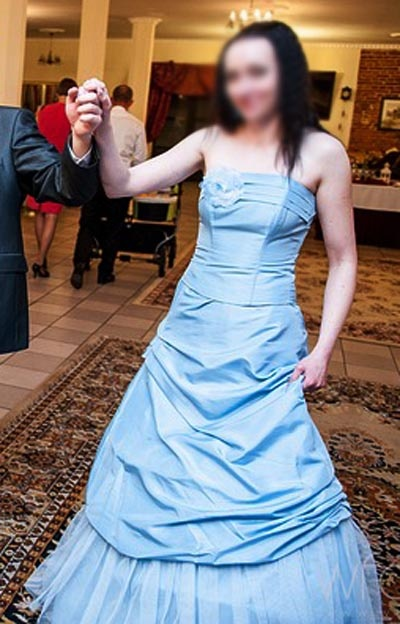 Długa maxi wizytowa spódnica i gorset impreza wesele 36