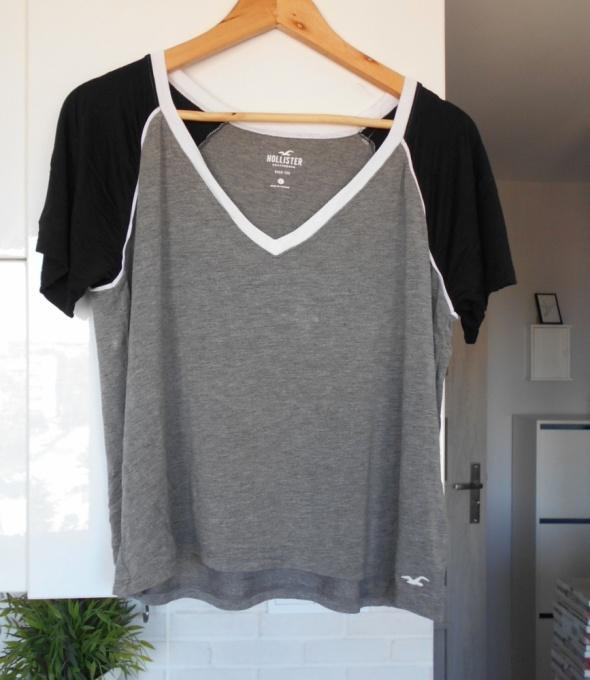 Hollister szara koszulka dekolt V