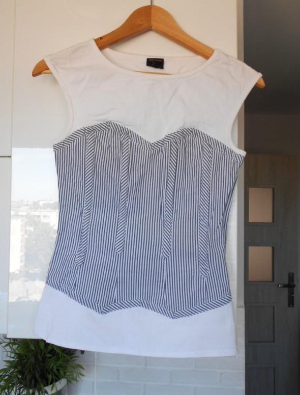Topshop kate moss koszulka z gorsetem paski