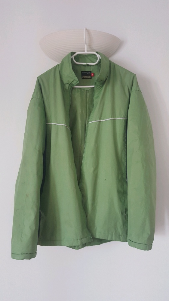 Zielona męska kurtka