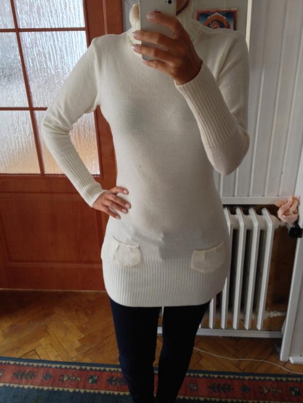 Kremowy sweter long Tally Weijl rozm 40