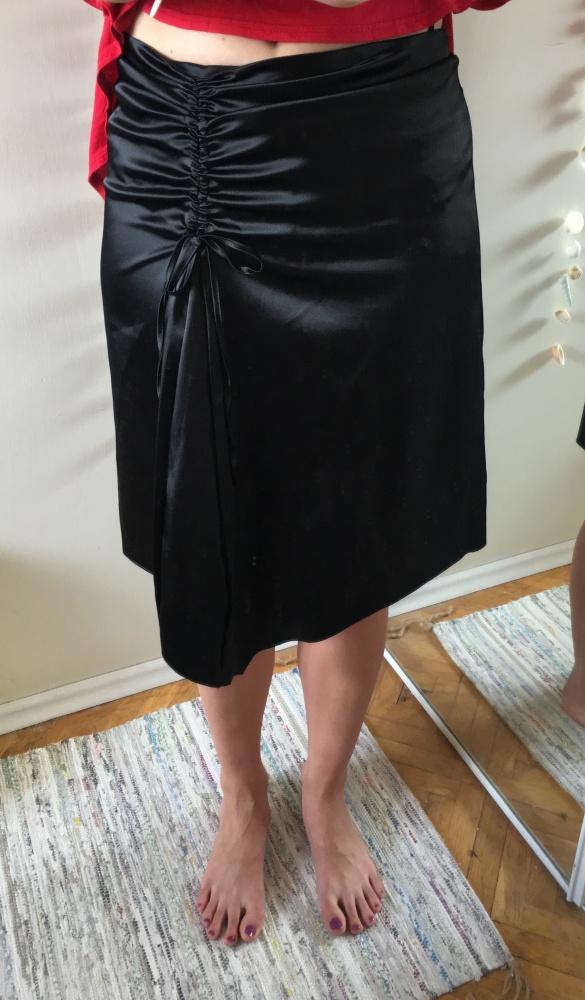 Czarna spódnica asymetryczna rozm 40