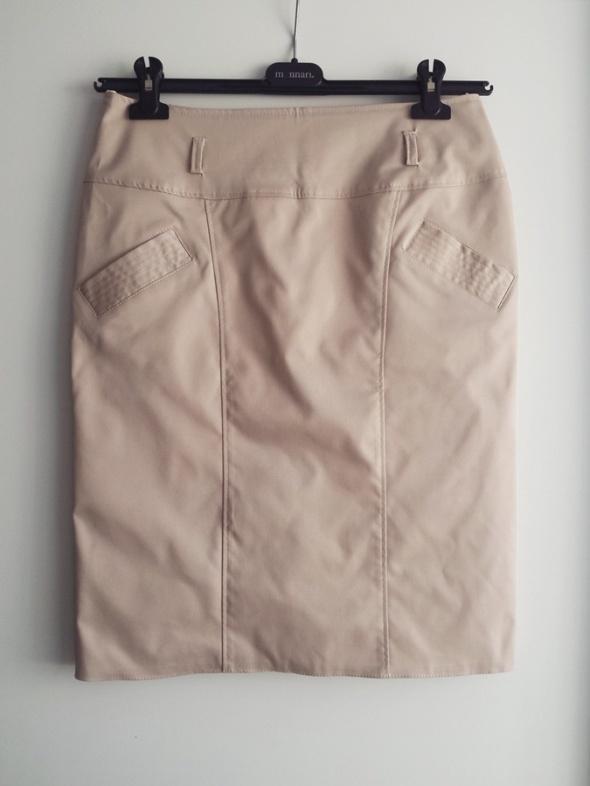 beżowa spódnica L