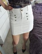 Biała mini spódniczka denim...