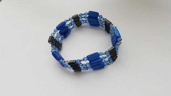 Magnetyczna bransoletka niebieska