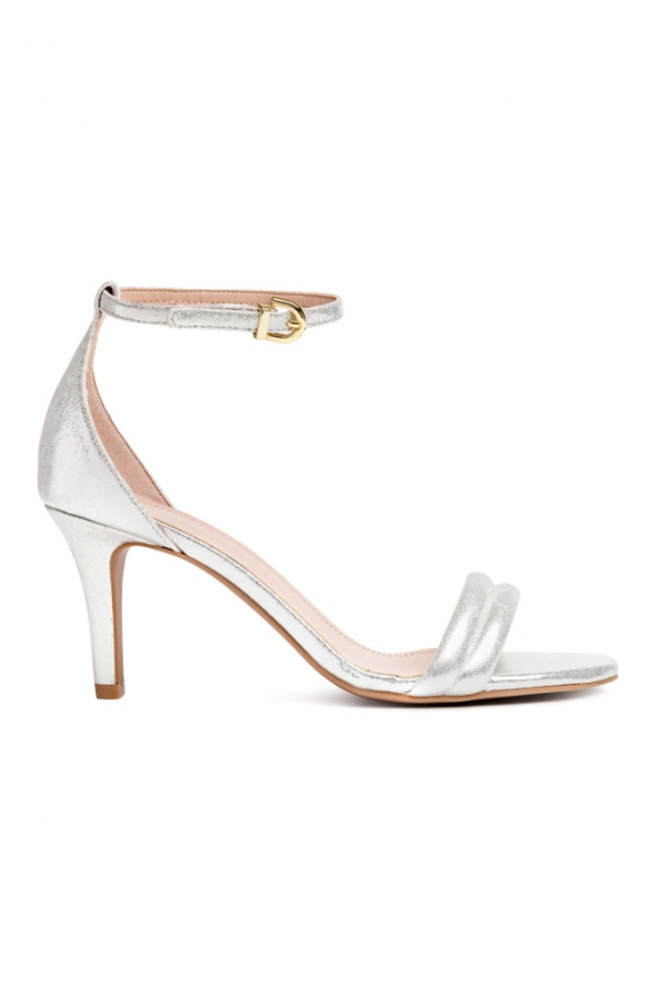 Sandały H&M srebrne