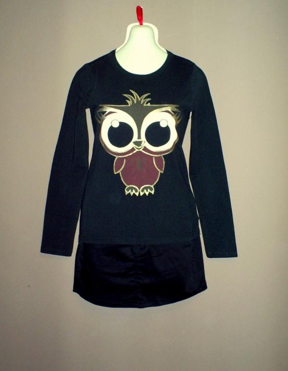 Nowa czarna bluzka z sową