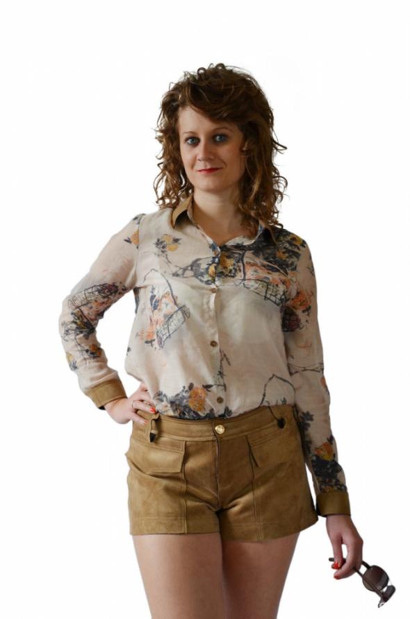 Bluzka spódnica kamizelka