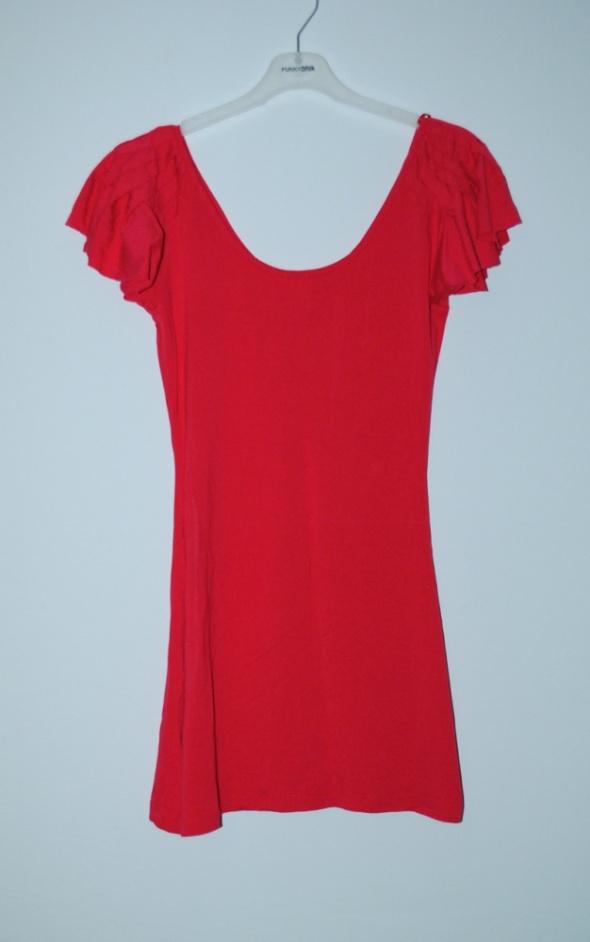 czerwona tunika h&m xs