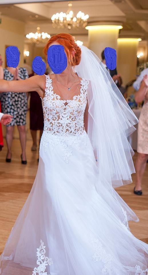 Suknia ślubna koronka tiul S...