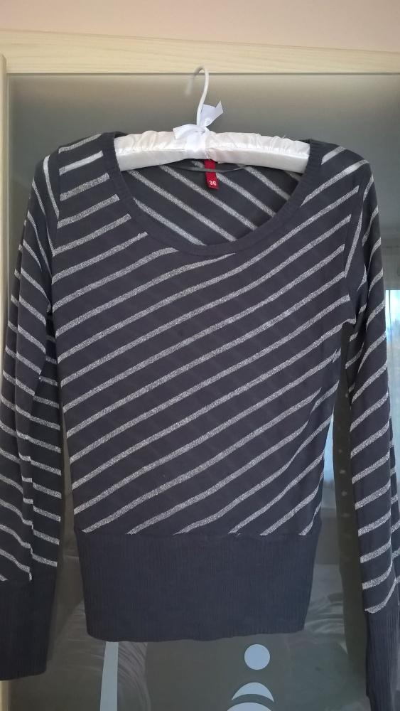 Szaro srebrny sweter H&M