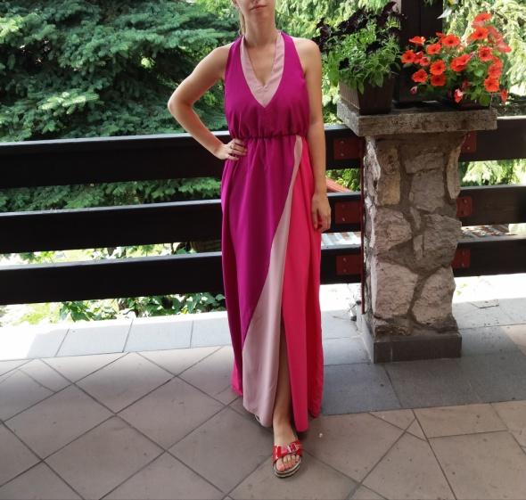 Sukienka maxi z gołymi plecami River Island 40
