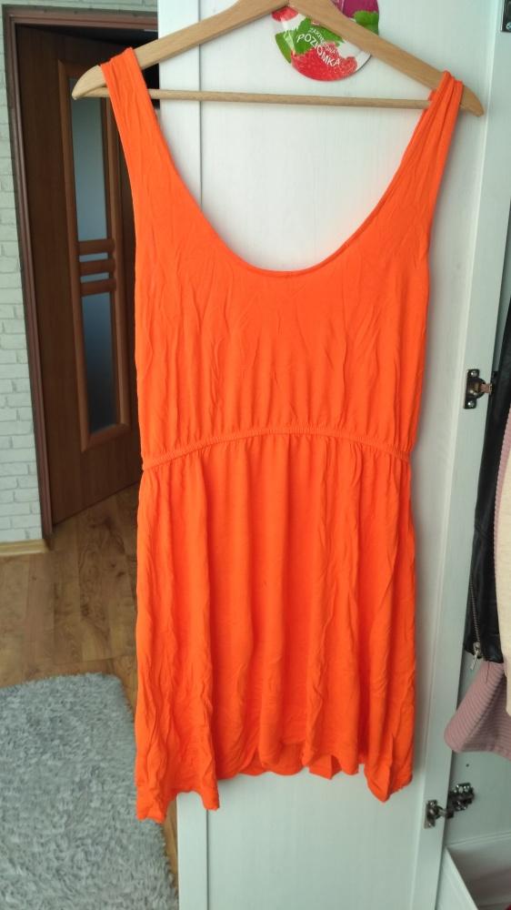 Sukienka pomarańczowa letnia h&m