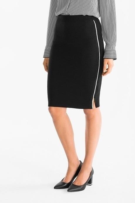 4cf06d104bf242 NOWA czarna spódniczka spódnica ołówkowa midi elegancka biznesowa 36