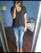 Nowa bluzka tshirt oversize Basic grafitowy 40 42 L XL...