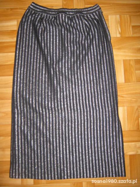 Spódnica w srebrne paski