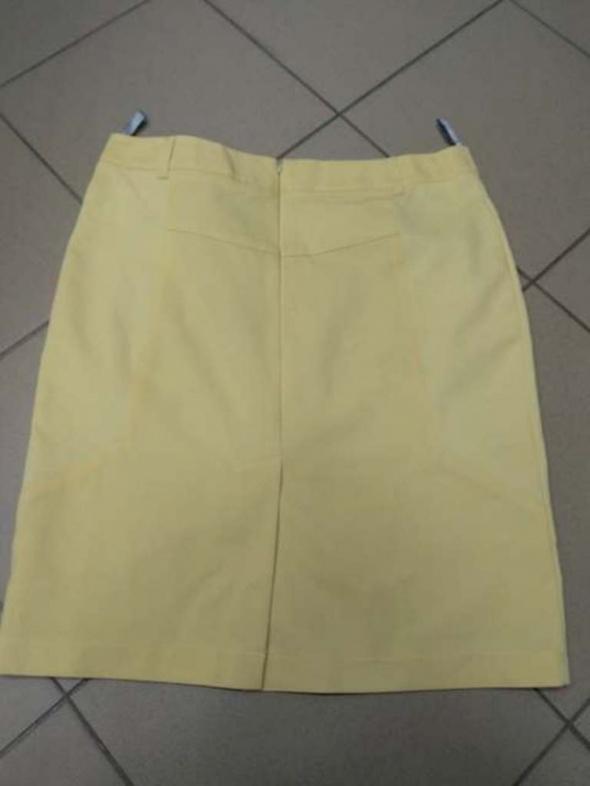 Spódnica pastelowa żółta ołówkowa 42