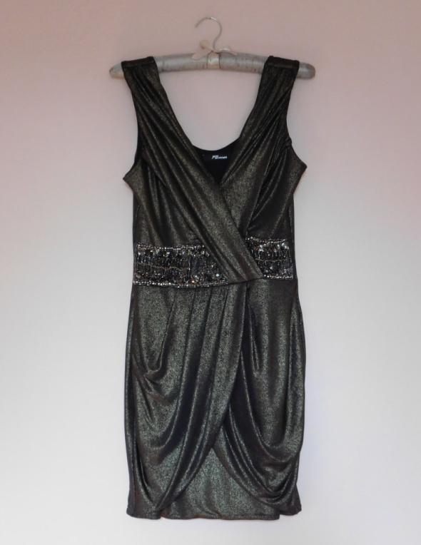 Jane Norman sexy sukienka złota 36...